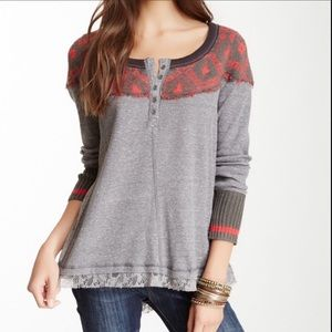 We The Free People Mix Media Cabin Woods Thermal S